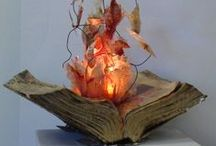 Biblio-Artistry / Things made of books.
