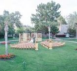 Wedding Day: Ceremony Sites / Choosing the lighting, decor and set up of the chairs for your wedding ceremony can get lost in the shuffle. Arizona Weddings Magazine favorite local ceremony site inspiration from Real Arizona weddings!