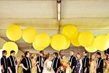 Inspiration: Lemon Yellow Hues / Yellow is the color of gold, butter, or ripe lemons, commonly associated with gold, sunshine, reason, optimism and pleasure. We love this hue on your wedding day. Bright and cheery, yellow, marigold and lemon all add that perfect touch to your Arizona wedding!