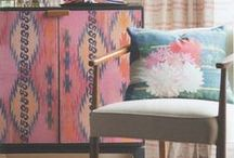 Art At Home / Shannon re-invents vintage furniture with paint, pattern and linen prints of her original artwork. Contact Shannon to inquire about an existing piece or commission a custom piece
