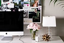 home • work space / by Malou Charis