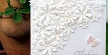 White +1 Colour Cards / Beautiful cards designed with white only plus one other colour.