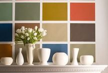 Accent Walls / #accentwalls #wallgraphics #boldcolor / by Plein Heir by Shannon Kaye