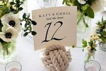 Nautical Wedding Inspiration / For those brides interested in having a nautical themed wedding, here are a few of our favorites pins.