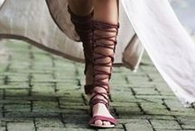 The Tall Gladiator / Shoe trends are a fun way to update your look. These tall gladiator sandals will make heads turns.