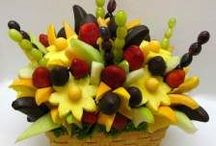 Fruit GALORE / Please, only put fruit that is used in a decorative or interesting way on this page so people can learn how to make bouquets, arrangements, learn something new or get great ideas.