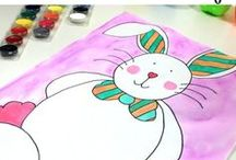 Easter / Activities for kids, lesson plans, hands-on science experiments, art projects, crafts, and math learning ideas for children in preschool, Kindergarten, and primary grades. Topics include Easter, Passover, bunnies, egg hunts, rabbits, and eggs. Includes free printable activities and resources for teachers.