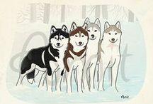 My dogs illustrations / by SiberianArt by Amit Eshel