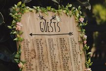 Menus, guests seating chart, escort cards / Large, framed, signs