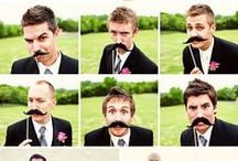 Wedding mustaches / Are they over or are they still hip?