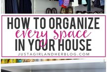 organization / Organization tips and tricks from organization blogs. How to get organized, organizing your home, organizing your closets, organize your pantry, organizing for laundry room, organizing your time, organizing your life. Cleaning and storage tips