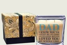 Father's Day and Everyday Gifts for Dad / Village Candle's Square Limited Edition Father's Candle Help Dad Decorate his personal space with Fragrance with the Personalized Square 9 oz Candle in the Amber Oud Fragrance!