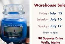 VILLAGE CANDLE ON LOCATION WAREHOUSE SALE / JUST IN TIME FOR CHRISTMAS WITH INCREDIBLE SAVINGS ON CANDLES FOR HOLDAY DECORATING & GIFT GIVING. LAST SALE ON LOCATION THIS YEAR!