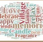 Village Candle Word Clouds / All our #VillageFriends favorite phrases or words