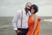 Orange Wedding Detail / Orange wedding ideas including bespoke wedding stationery