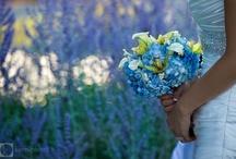 Blue Wedding Detail / Blue wedding ideas including bespoke wedding stationery