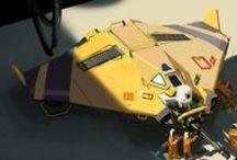Space ships/ mecha/ sci-fi vehicles