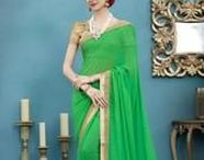 Green Sarees / We love the colour green!  Yellow Fashion offers a wide range from bright green to pastels. You'll get everything you want!