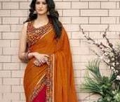 Georgette Saree / Amazing Georgette sarees by Yellow Fashion.