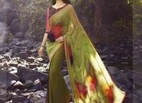 Digital Print Sarees / Prints that are modern, has a story to tell. #Fashion #IndianWear #Style