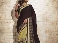 Brown Sarees / Select from the wide variety of brown color sarees from #Yellowfashion.in