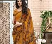 Mustard Colour Sarees / We have got a color for your every occasion. Choose from your favorite color from #Yellowfashion.in