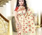 Shades of Golden sarees / Golden color sarees from Yellowfashion.in are more precious than gold. Check out our board.
