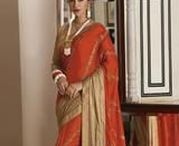Orange Sarees / Pick your favorite colour for your special occasions. Orange colour sarees from Yellowfashion.in