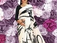 Black and White Sarees / Latest Collection of Black and White Sarees