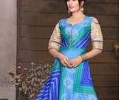 Indo-Western Gown / Fashions fade, style is eternal.Dress up in our Designer Indo-Western Gown For Evening Function