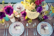 Enchanting Table centerpiece/settings / by Lachelle Marshall