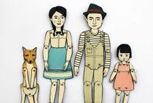 Jointed paper dolls