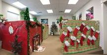 Office Christmas Décor / How to fill your office with Christmas cheer!