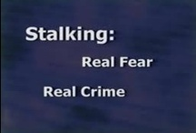 """Stalking Awareness / """"Staling is a pattern of behavior directed at a specific person that would cause a reasonable person to feel fear.  While many crimes consist of a single act, stalking consists of a series of actions which in themselves can be legal, such as calling on the phone, sending gifts, or emailing, but which, as part of a pattern, create fear in the victim.""""  (Source: Help In Healing: A training Guide for Advocates, Maine Coalition Against Sexual Assault) *Trigger Warning on info & pictures*"""