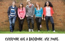"""The Backbone Zone / """"Everybody has a backbone. The Backbone Zone is a project to help students find theirs, and to give them tools to confront gender-bullying, sexual harassment, and sexist and homophobic language when they see and hear it."""""""
