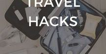 Travel Hacks / Travel Hacks | Travel Tips | What to Pack | Carry On | Plane | Packing | Hotels | Budget | Save Money | Where To Stay | Cheap Travel