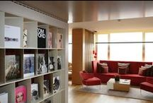 TH Fashion Library / The Fashion Library of The Hotel offers the most fashionable books, in a relaxing environment filled with fashion touches.