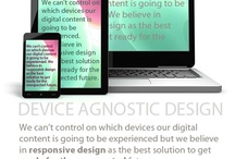 Things we do // Cosas que hacemos / DEVICE AGNOSTIC WEBS AND APPS.  Since noone can control where, when and how our web shall be seen, we ensure positive experience with responsive design techniques.
