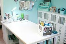"""My Sewing Room / My Sewingroom. Sewing, Computer. What do I need in there? HELP!Have HUGE space, 17'x14'. but short walls, upstairs """"half story""""."""