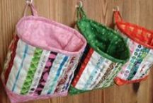 Great ways to use scrap fabric! / I love using every little scrap of fabric, so am always looking for good ideas to use them :) / by Pamela Boatright