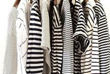 Black and White Stripes / A little inspiration in the form of black + white stripes - from fashion to design to decor.
