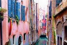 Watery--Venice & Bruges / Two of my favorite ancient cities. Totally different, yet alike in many ways too.
