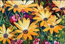 Art - Flowers / Floral paintings, blossoms, blooms, and flower arrangements