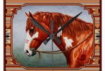 Horse Lovers Clothing & Gifts / Horse art on various gift products including t-shirts, jewelry, coffee mugs, mouse pads, iPad cases, ornaments, clocks, pillows, towels, coasters, jigsaw puzzles, and more.