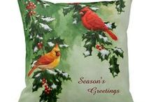 Christmas / Christmas themed decorations and gifts featuring animal artwork by me and various other artists.