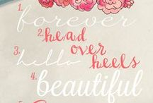Beautiful Fonts / I love fonts!  Here's a fun collection of some of my favorite fonts.