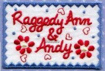 Raggedy ann,and Andy,,& stuff & friends. / I have loved Ann,and Andy,since I was in 1st grade,now i have my laundry adorned with them! / by Donna ~~~