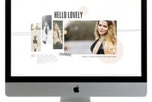 Blog + Website Design Inspiration / Gorgeously designed blogs and blog templates / themes as well as fab designy blog elements and website design