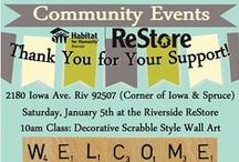 Riverside ReStore Events / Join us for free community events hosted by the Habitat Riverside ReStore.