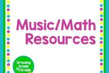 Music/Math Resources / Grades K-8 projects, printables, worksheets, and ideas for helping math and music support each other.